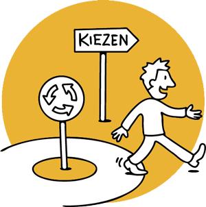 Loopbaan-Coaching, illustratie kiezen
