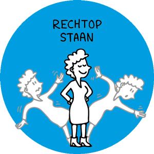 Loopbaan-Coaching, illustratie rechtop staan